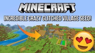 Minecraft - Incredible Crazy Glitched Village Seed! (Minecraft PS4, Xbox One, PS3,Xbox 360)