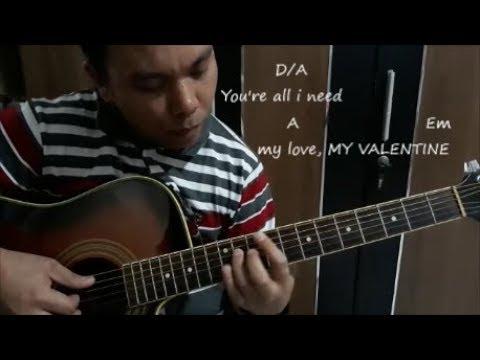 Jim Brickman feat Martina McBride - My Valentine (Cover) Guitar Fingerstyle Lyrics + Chords