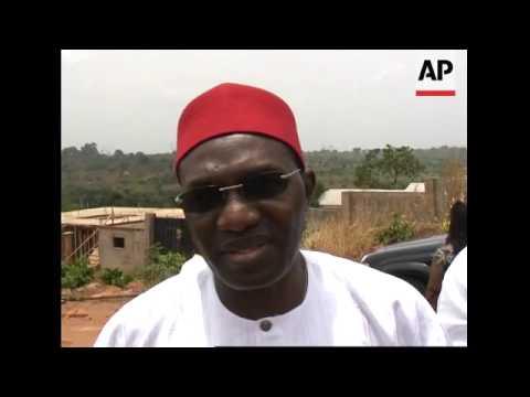 Voting scenes, soundbite Andy Uba - governor-elect for the region.