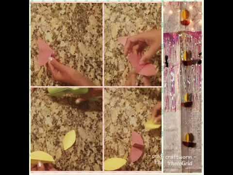 Easy Diwali decoration with paper diya strings.