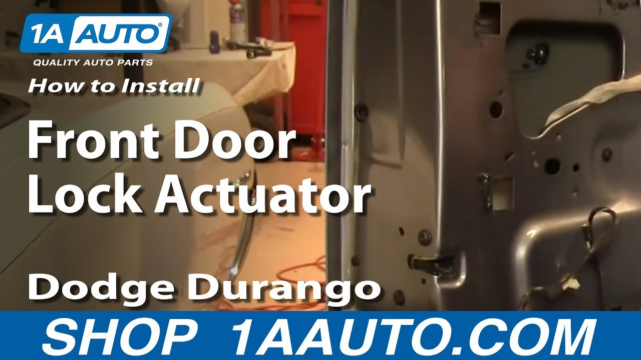 how to install replace front door lock actuator dodge