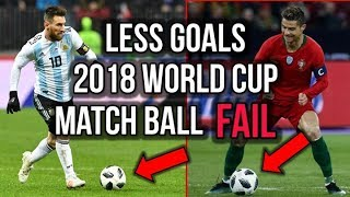 HERE'S WHY THERE WILL BE LESS GOALS IN THE 2018 WORLD CUP! *ADIDAS MATCH BALL FAIL!*