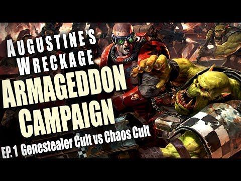Genestealer Cult vs Chaos Cult - Augustine's Wreckage Armageddon Narrative Campaign Ep 1