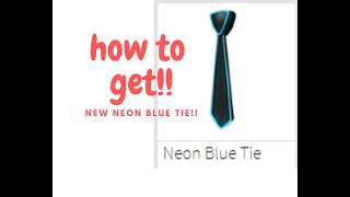 How to get the Neon Tie!!! (ROBLOX NEW PROMOCODE!!!)