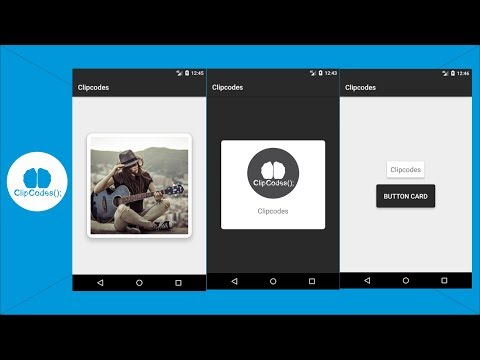 Using CardView Android Tutorials Image Card and Button Card