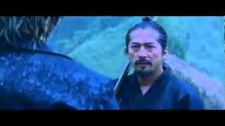 The Last Samurai fight in the rain with Bokken