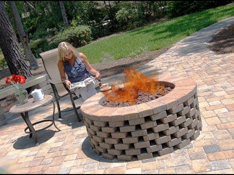 Bricks for fire pit youtube for What kind of bricks for fire pit