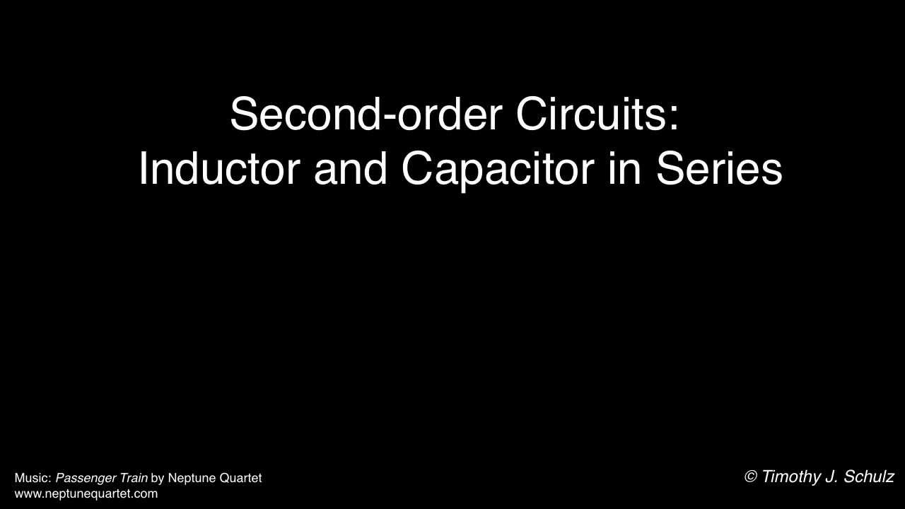 Introduction To Series Rlc Circuits Youtube Values Of The Resistors And Capacitors For Our Thirdorder Circuit