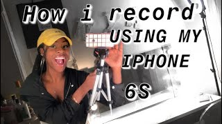 How I RECORD videos on YOUTUBE w my IPHONE! 😱