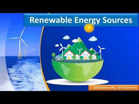 Environmental Science | EVS | Renewable Energy Sources | Solar | Wind | Ocean | Tidal | Geothermal |