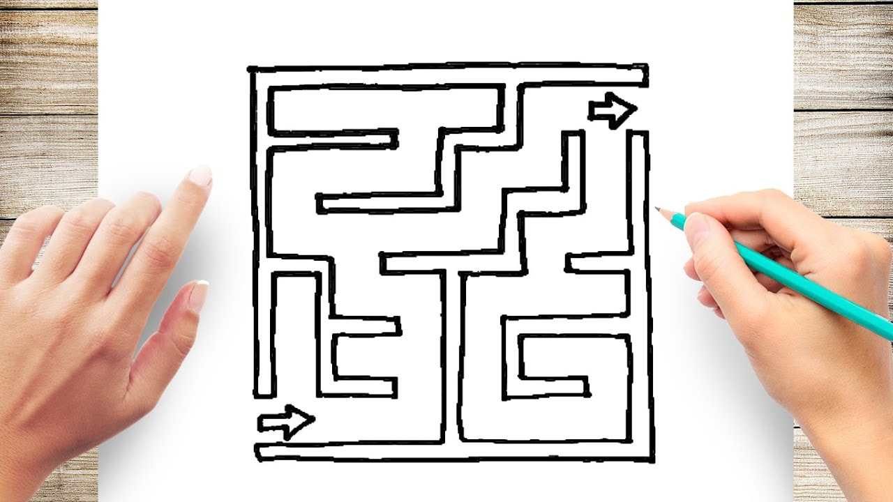 How To Draw A Maze Step By You