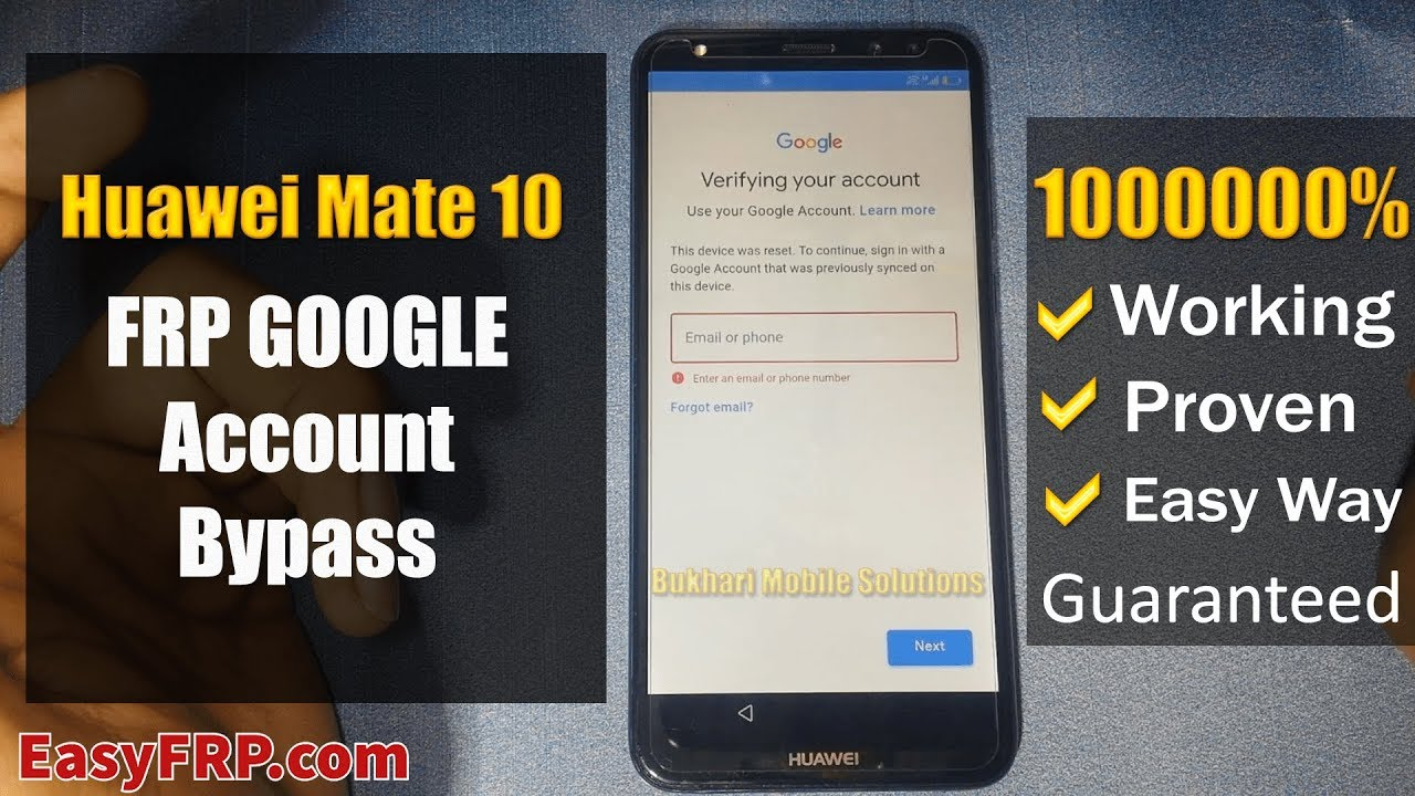 Latest Huawei Mate 10 Lite Bypass Google Account FRP 2019