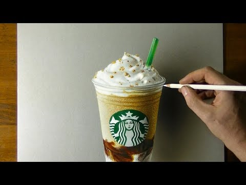 Drawing A Starbucks Cup - How To Draw 3D Art