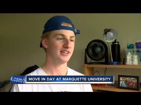 Freshmen move into Marquette University