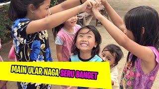 Permainan ular naga panjangnya bareng teman Safa   Lagu Anak Indonesia