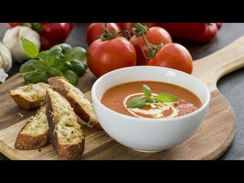 Roasted Tomato and Red Pepper Soup Recipe