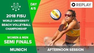 Beach Volleyball - Semi Finals - 2018 FISU World University Championship - Day 4 - Afternoon Session