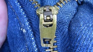 Fix A Brass Zipper That Won't Stay Up (Updated Video Available)