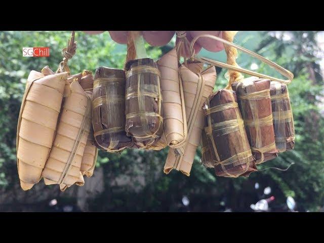 Gánh bánh tét, bánh lá dừa tí hon mấy chục năm ở Sài Gòn
