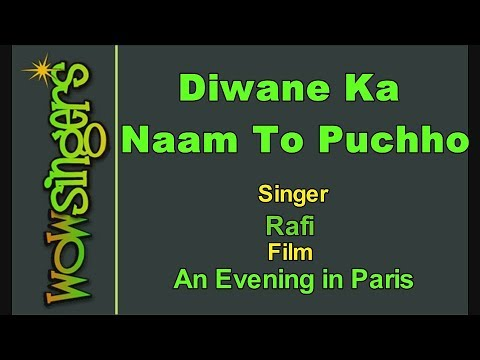 Diwane Ka Naam To Puchho - Hindi Karaoke - Wow Singers