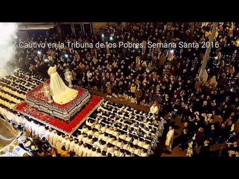 Jesús Cautivo de Málaga en la Tribuna de los pobres Semana Santa 2016
