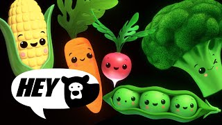Hey Bear Sensory - Funky Veggies EXTENDED! - Baby Sensory - Fun Animation with Music!