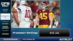 Preseason Top 25 College Football Rankings
