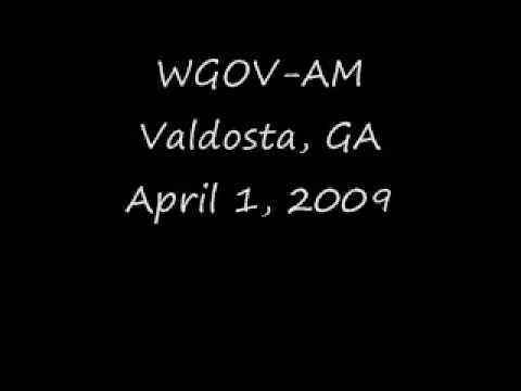 WGOV AM Valdosta, GA April 1, 2009
