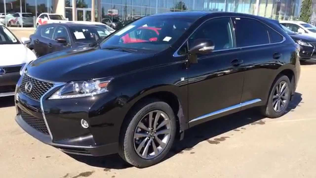 new black 2015 lexus rx 350 awd 4dr f sport package review alberta youtube. Black Bedroom Furniture Sets. Home Design Ideas