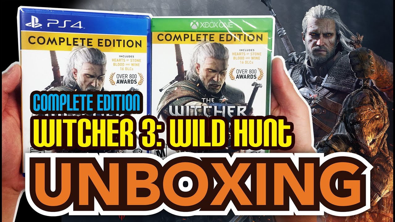Witcher 3 wild hunt complete edition xbox one ps4 unboxing witcher 3 wild hunt complete edition xbox one ps4 unboxing youtube solutioingenieria Image collections
