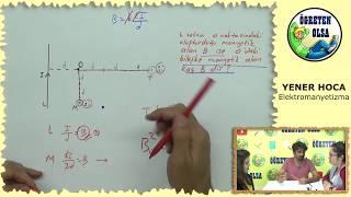 YKS Fizik-YENER HOCA- Manyetik alan #1 (Düz tel)