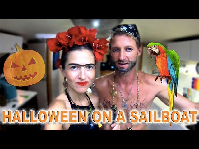HALLOWEEN PARTY on a sailboat in the Caribbean🔥