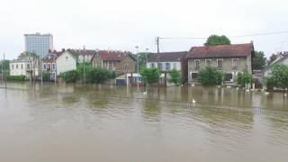 inondation melun quai de seine
