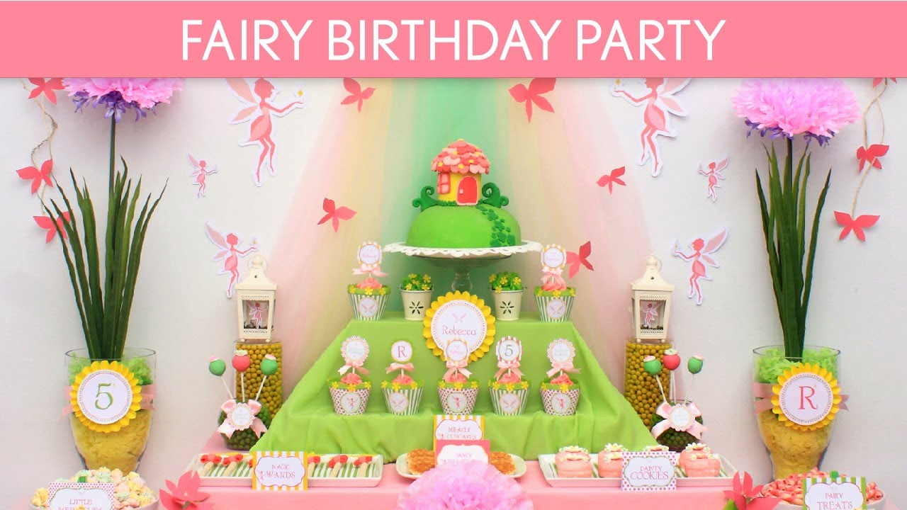 How to Have a Fairy Birthday Party for 25