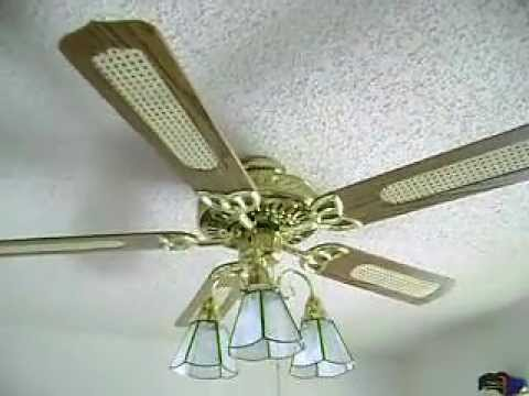 Encon monarch ceiling fan flushmounted youtube encon monarch ceiling fan flushmounted aloadofball Choice Image