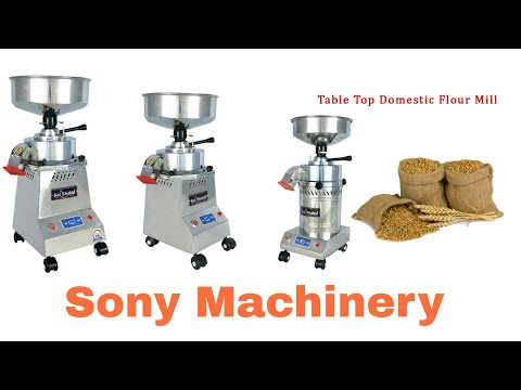 Stainless Steel Domestic Flour Mill With Stone