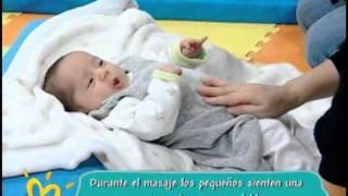 Sección Estimulación: Masajes Shantala para bebés (de 0 a 6 meses)