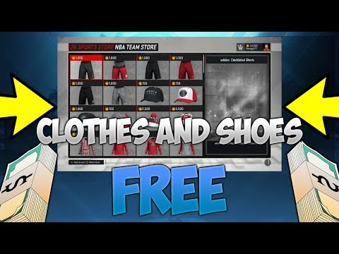 NBA 2K17 Free Clothes And Shoes Glitch Tutorial - *UPDATED* 2K Sports Store Glitch
