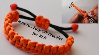 Simple Macrame Bracelet Tutorial - Howto / DIY (Easy)