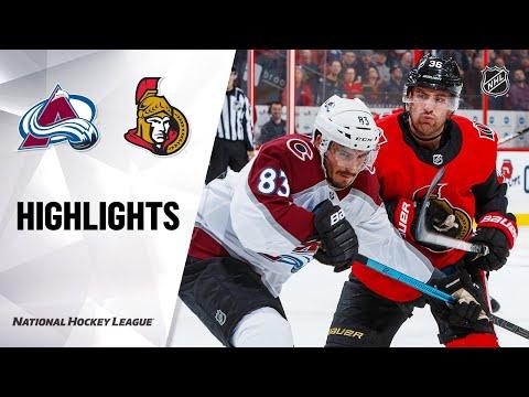NHL Highlights   Avalanche @ Senators 2/6/20