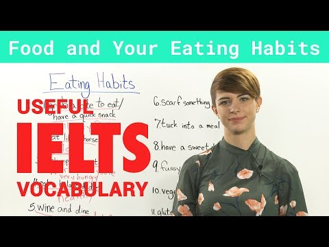 IELTS Speaking Vocabulary Talking about Food and Eating Habits