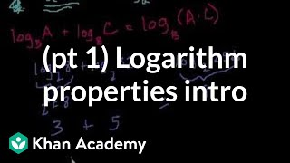 Introduction to logarithm properties | Logarithms | Algebra II | Khan Academy thumbnail