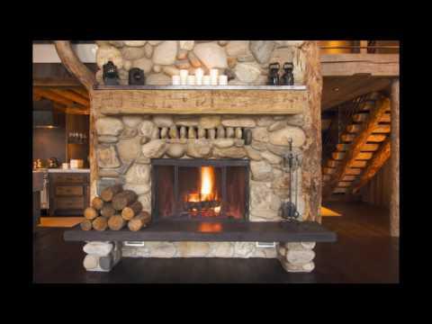 Дизайн и интерьер гостиной с камином