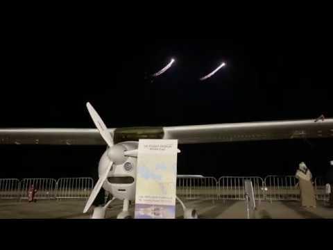 Late night airshow Sand and Fun 2020 Saudi Arabia. Flight Design CTLS.