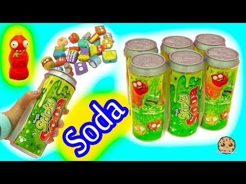 6 Pack Grossery Gang Sticky Soda Sets with Surprise Blind Bag with Hans & Barbie