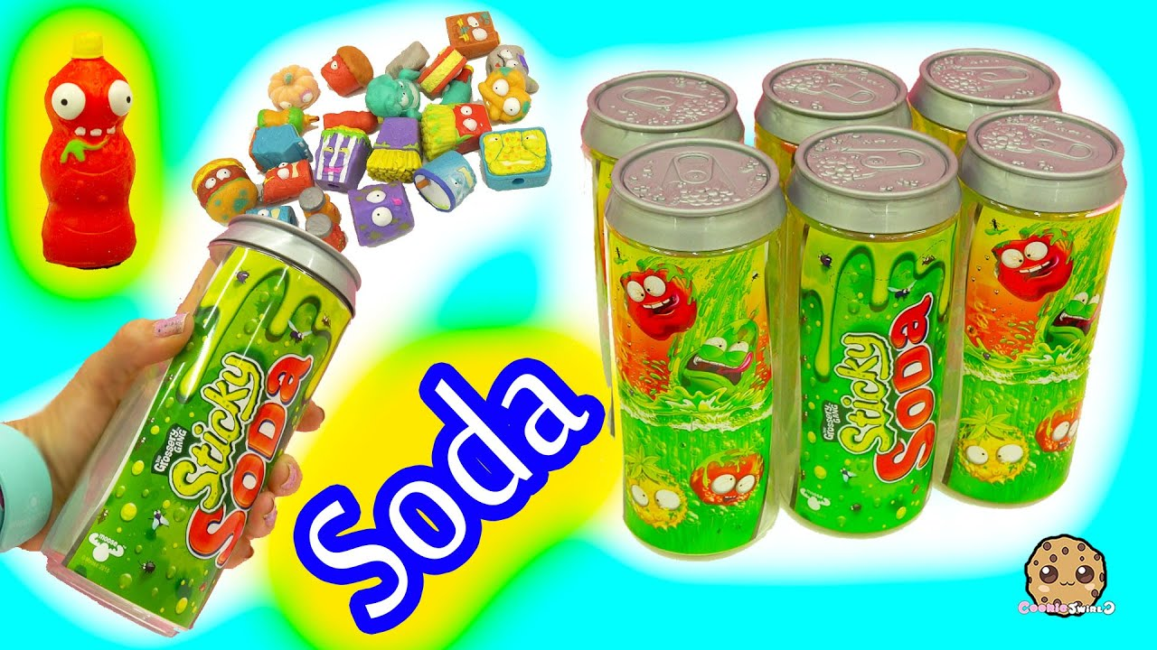 6 Pack Grossery Gang Sticky Soda Sets With Surprise Blind