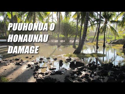 Puuhonua O Honaunau Cleans Up After Severe Wave Damage