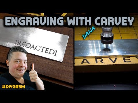 Engraving Text on Aluminum with Inventables Carvey Desktop CNC Router
