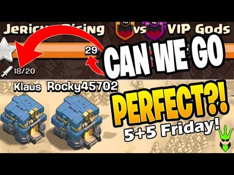 CAN KLAUS BASHING GET THE *PERFECT WAR*?! - 5+5 Friday - Clash Of Clans