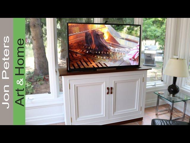 This Hidden Tv Lift Cabinet Is Amazing